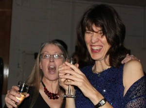Julia and Rachel go large at the BBL Christmas Party
