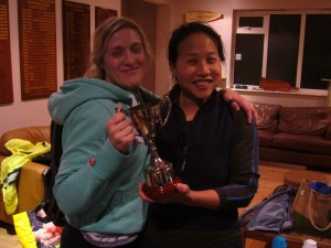 Kate and Sharon and the Best Crew Cup